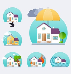 House insurance business service icons template vector