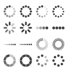 loading bar icon set symbol vector image