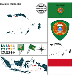 Map of maluku vector