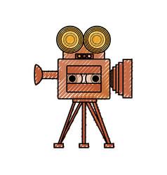 Old cinema camcorder vector