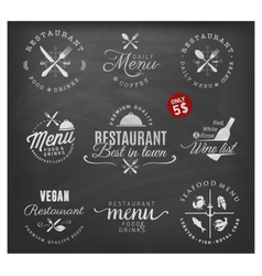 Restaurant Badges and Labels in Vintage Style vector image vector image