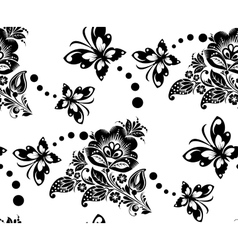 Seamless floral pattern with flower and vector image vector image