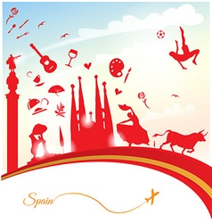 spain travel background vector image vector image