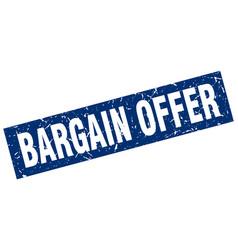 Square grunge blue bargain offer stamp vector