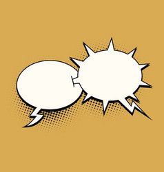 The ball and spikes comic bubble vector