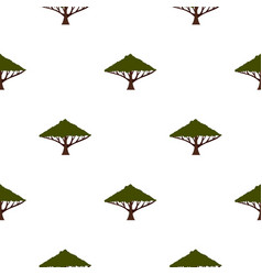 Tree with large crown pattern flat vector