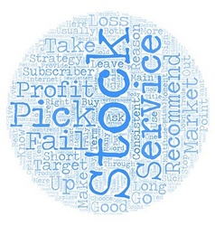 Why most stock pick service fails text background vector