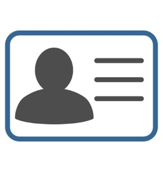 Account card flat icon vector