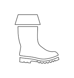 Rubber boot icon outline style vector