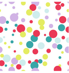 seamless pattern of multicolored circles digital vector image
