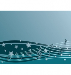 blue music vector image