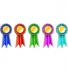 Set award ribbons vector