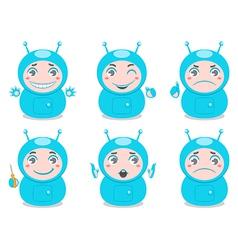 cute robots vector image
