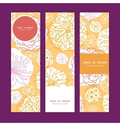 Warm day flowers vertical banners set pattern vector