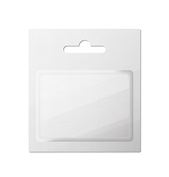 Plastic transparent blister with hang slot product vector
