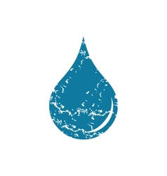 Grunge drop icon vector