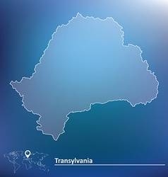 Map of transylvania vector
