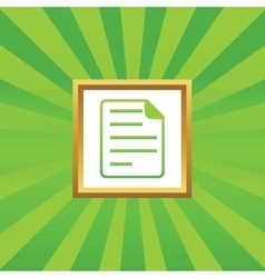 Document picture icon vector