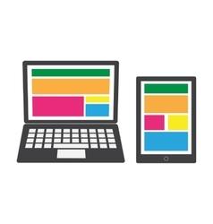 Modern gadget vector image
