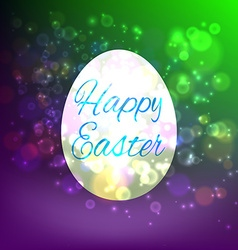 Easter egg isolated on yellow background vector