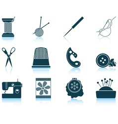 Set of sewing icons vector