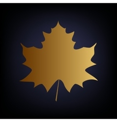 Maple leaf sign vector