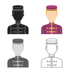 Bellboy icon in cartoon style isolated on white vector