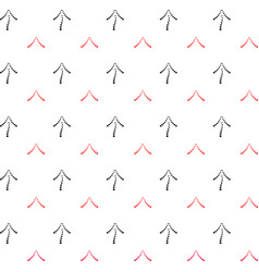 Black and red arrows point upwards vector