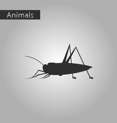 Black and white style icon of grasshopper vector