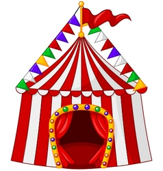 Cartoon circus tent isolated on white background vector