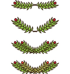 Christmas branch vector