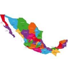 Colorful mexico map vector