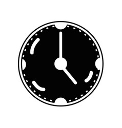 Contour clock to know the time of day vector