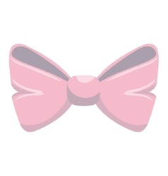 cute bown pink isolated icon vector image