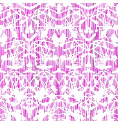 Damask pattern with abstract hand painted shapes vector