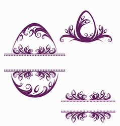 Easter decorative elements vector image vector image