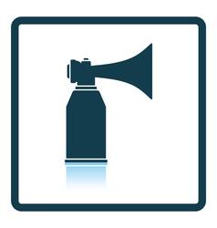 Football fans air horn aerosol icon vector