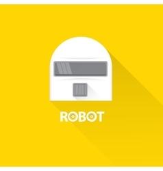 funny robot head logo design vector image