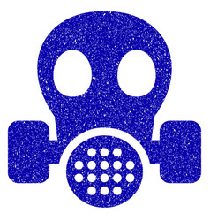 gas mask icon grunge watermark vector image