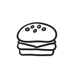 Hamburger sketch icon vector
