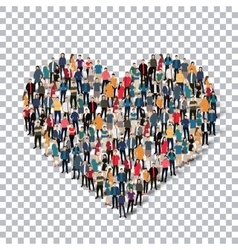 Heart people sign 3d vector