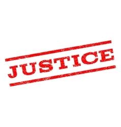 Justice Watermark Stamp vector image vector image