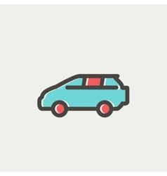 Minivan thin line icon vector