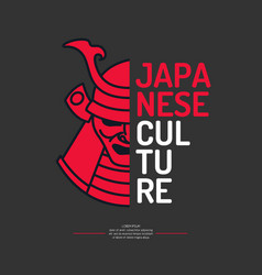 Modern poster japanese culture with the samurai vector