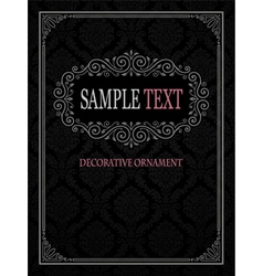 Ornamental frame with seamless pattern vector