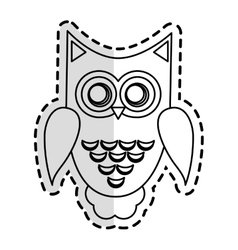 Owl cartoon icon vector