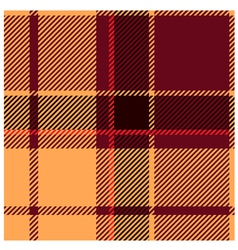 Reddish tartan cloth pattern vector