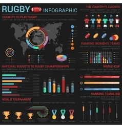 Rugby or american football infographic template vector