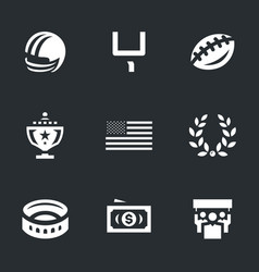 set of american football icons vector image vector image