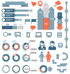 Set of infographic elements and icons vector image vector image